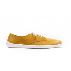 Chaussure cuir barefoot Be Lanka Moutarde