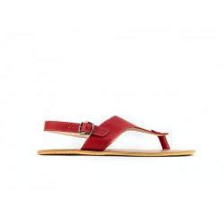 Chaussure cuir barefoot Sandales Be Lenka Rouge