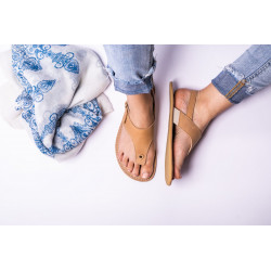 Chaussure cuir barefoot Sandales Be Lenka Marron