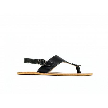 Chaussure cuir barefoot Sandales Be Lenka Noire avec tige