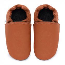Chaussons cuir FOURRES bébé Brandy
