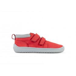 Chaussure cuir Barefoot enfant Be Lenka Play - Rouge