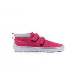 Chaussure cuir Barefoot enfant Be Lenka Play - Rose foncée