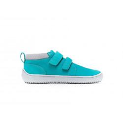 Chaussure cuir Barefoot enfant Be Lenka Play - Aqua