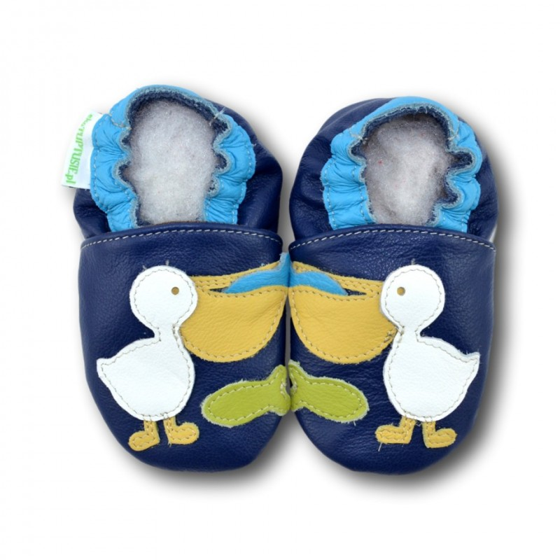 Chaussons cuir souple Pelican