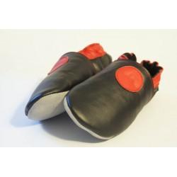 chaussons cuir souple NON FOURRES Cercle rouge chez nat-essence