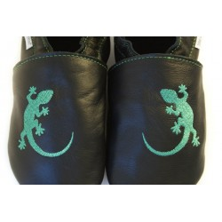 Chaussons cuir FOURRES adulte Lezard