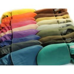 Chaussons cuir souple Bleu jeans