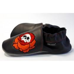 Chaussons cuir FOURRES Rock 'n' Flower