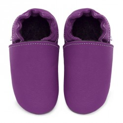 Chaussons cuir FOURRES Violet