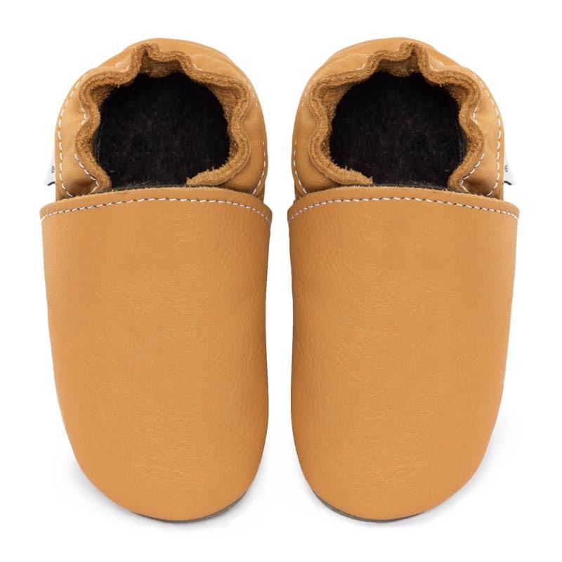 Chaussons cuir FOURRES Savane