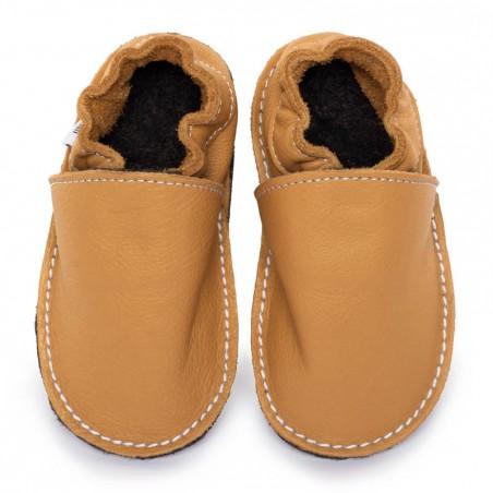P'tites Gommes Savanne, semelle caoutchouc, chaussure cuir souple