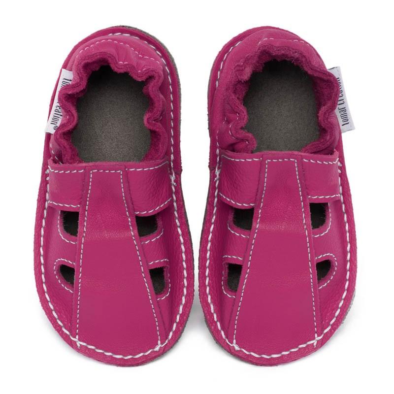 le dernier 126c4 57f71 Chaussure cuir bébé été FUSHIA