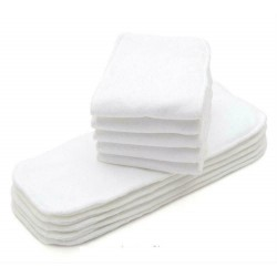 Lot de 10 Grands inserts en microfibre, ultra absorbant