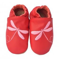 Chaussons cuir bébé Libellule