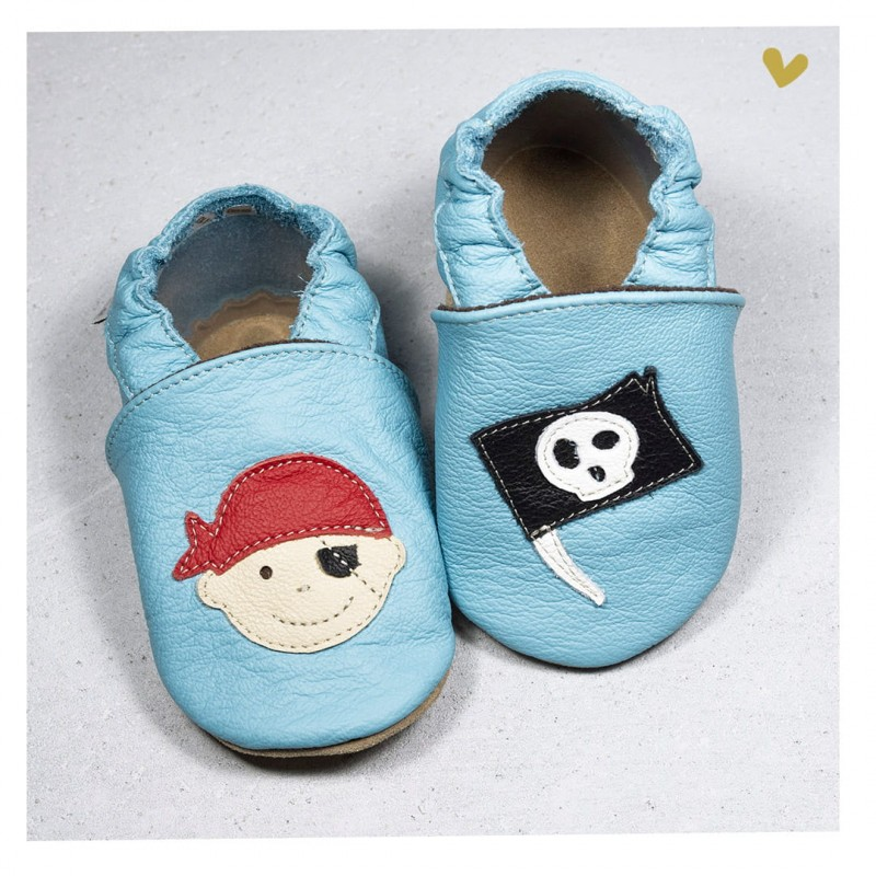 Chausson cuir souple Pirate