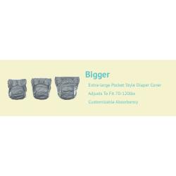 Couche lavable 32-55 kg Bigger Bumgénius grise