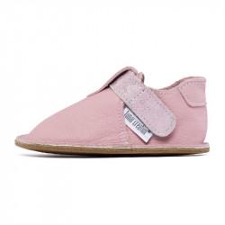P'tit scratch Camel chaussure cuir souple