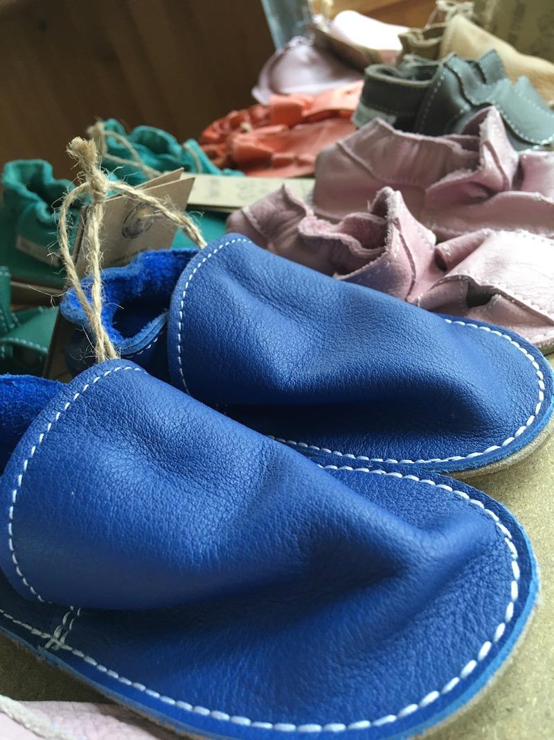 Chaussure en cuir souple chez Nat-essence